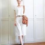 この夏の流行<ガウチョパンツ>に上質なハンドメイドをプラスして、大人可愛い着こなしを。