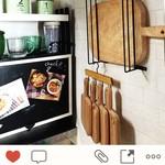 木目の手作りキッチン雑貨でナチュラルテイストなキッチン空間