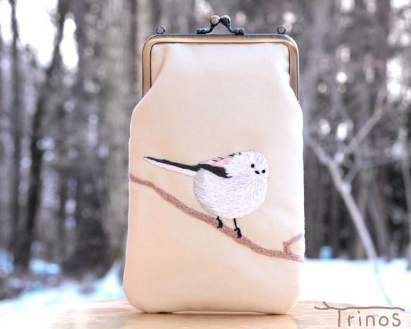 シマエナガのスマホポーチ L Size (八ヶ岳の小鳥たち・番外編)|iPhoneケース・スマホ|ハンドメイド通販・販売のCreema (180)