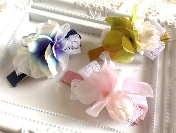 お花のヘアクリップ ヘアピン ハンドメイド通販・販売のCreema (209)