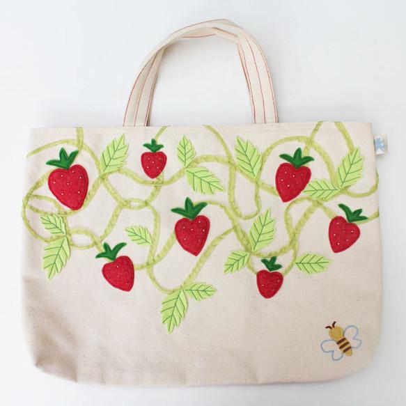 レッスンバッグ オリジナルデザイン「ハートのイチゴ畑」|レッスンバッグ・ケース|ハンドメイド通販・販売のCreema (289)