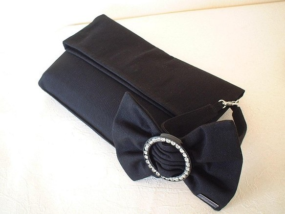 2Wayブレスクラッチバッグ-ブラックリボン|クラッチバッグ|ハンドメイド通販・販売のCreema (300)
