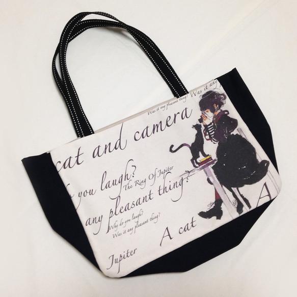 【プチトートバッグ】猫とカメラ-黒|トートバッグ|ハンドメイド通販・販売のCreema (323)