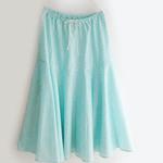 夏にピッタリ◎鮮やかなデザインのゆるふわロングスカート