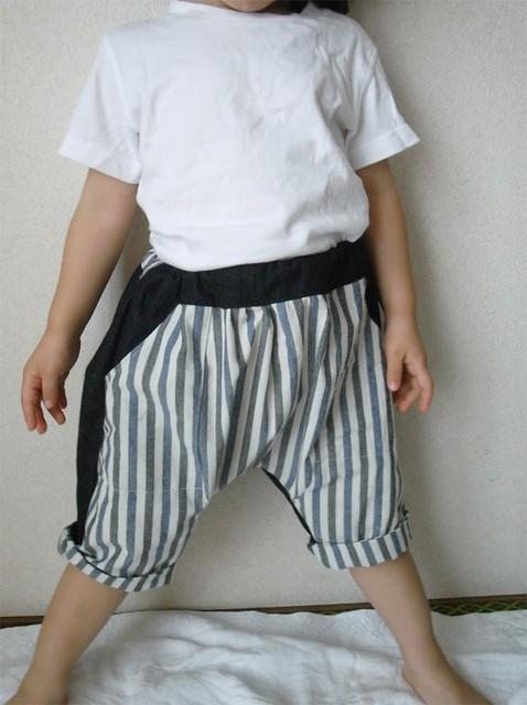 切り替えサルエルパンツ |子供服|ハンドメイド通販・販売のCreema (519)