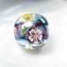 ガラスに咲く花の世界*幻想的な大粒とんぼ玉*