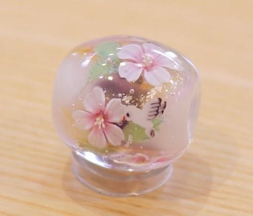 とんぼ玉 桜と白い鳩|ビーズ|ハンドメイド通販・販売のCreema (664)