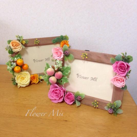 フラワーフォトフレーム by Flower Mii フラワー・ガーデン プリザーブドフラワー | ハンドメイドマーケット minne(ミンネ) (690)