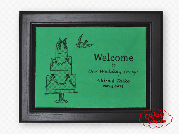 ウェディングケーキのウェルカムボード|ウェルカムボード|ハンドメイド通販・販売のCreema (773)