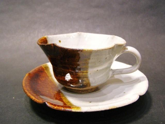 朝鮮唐津コーヒーカップ(掛け分け) 作品詳細 | 大杉皿屋窯 | ハンドメイド通販 iichi(いいち) (956)