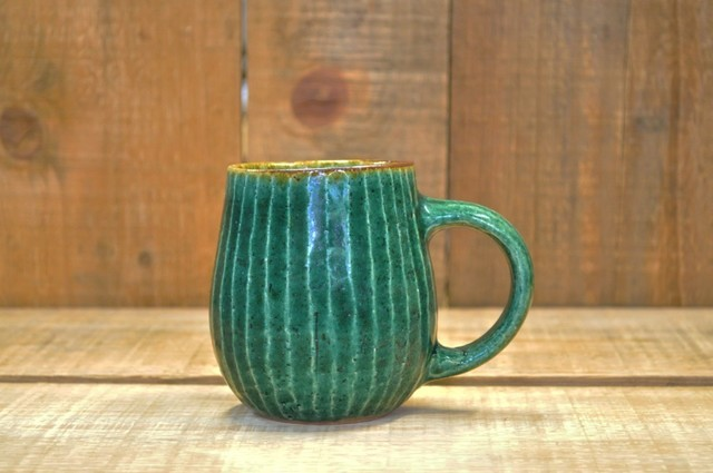 緑釉 マグカップ03 作品詳細 | 森の種陶工所 | ハンドメイド通販 iichi(いいち) (976)