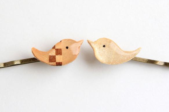 木製キラピカことり02(ヘアピン)2個セット|ヘアピン|ハンドメイド通販・販売のCreema (1084)
