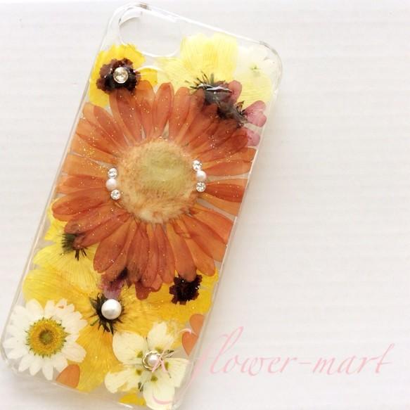 iPhone5/5s押し花iPhoneケース|iPhoneケース・スマホ|ハンドメイド通販・販売のCreema (1400)