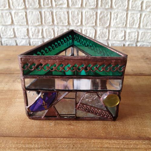 ステンドグラス Candle holder/mosaic グリーン【受注生産】|キャンドル|ハンドメイド通販・販売のCreema (1406)
