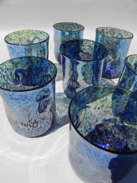 光渦グラス /青艶 グラス ハンドメイド通販・販売のCreema (1526)