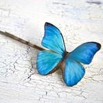 ハッとするほど美しい*蝶のヘアピン*