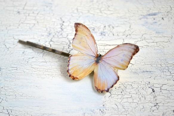 小さな森に住む蝶のヘアピン 白|ヘアピン|ハンドメイド通販・販売のCreema (1707)