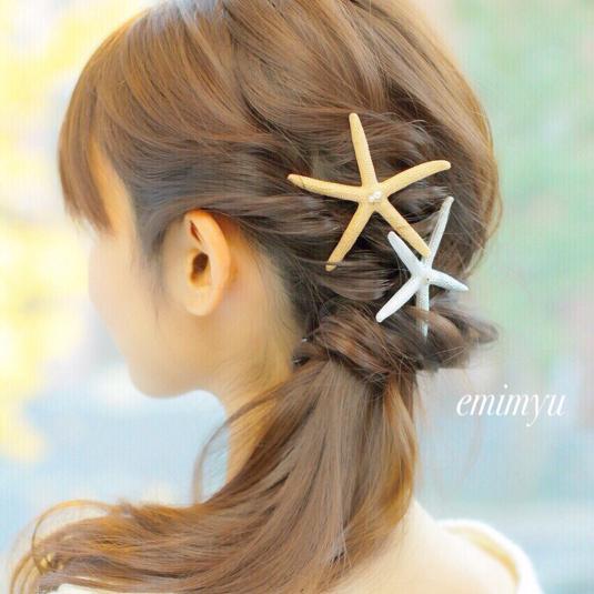 Star Fish Celeb Color by emimyu アクセサリー ヘアアクセサリー | ハンドメイドマーケット minne(ミンネ) (2386)