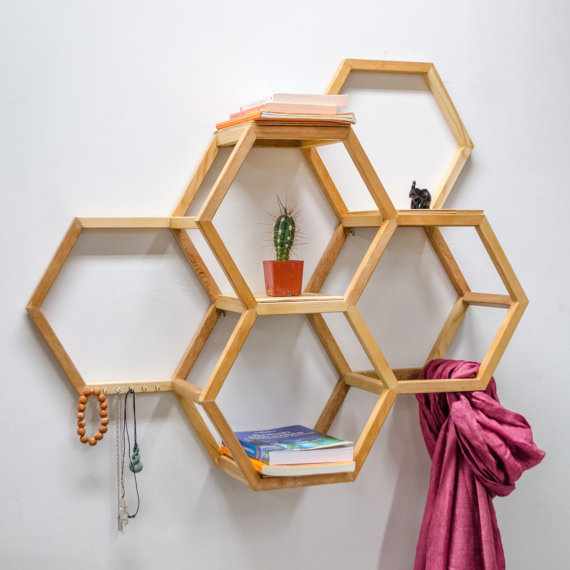 Etsy の Honeycomb Shelf by KaitlinWiebe (2460)