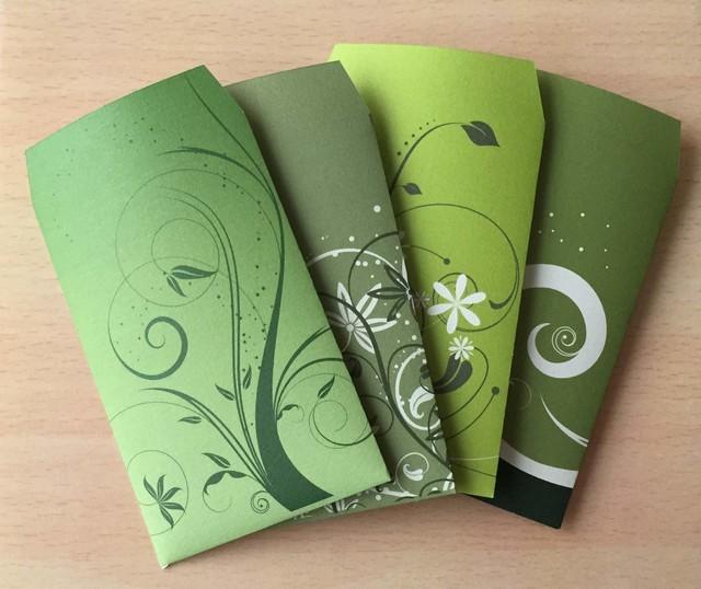 グリーンなポチ袋8枚セット by DreamAlive 文房具・ステーショナリー カード・レター・ラッピング  ハンドメイドマーケット minne(ミンネ) (2513)