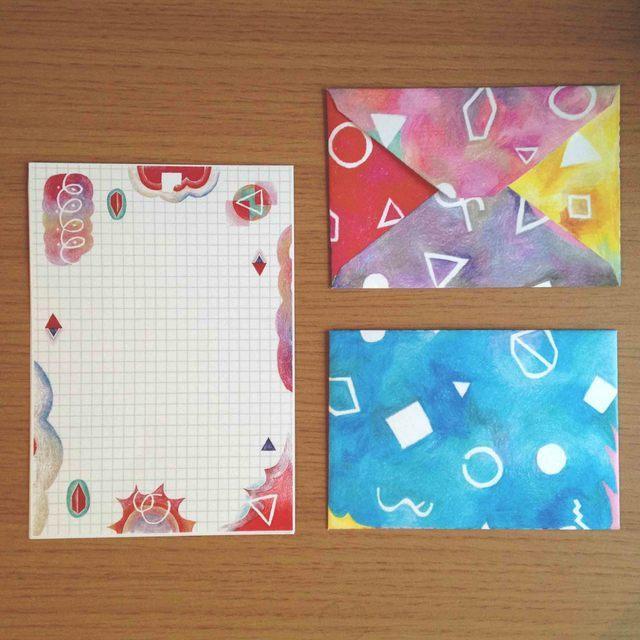 レターセット by umochu 文房具・ステーショナリー カード・レター・ラッピング  ハンドメイドマーケット minne(ミンネ) (2549)