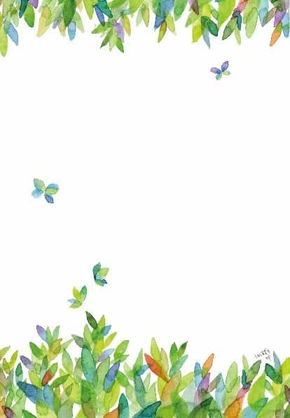 バタフライリーフのレターセット by むらかみしの 文房具・ステーショナリー カード・レター・ラッピング  ハンドメイドマーケット minne(ミンネ) (2553)
