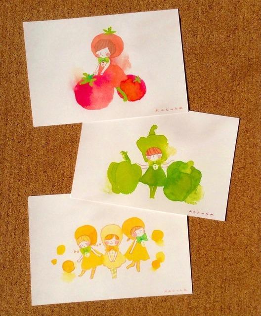 お野菜ちゃんのポストカードセット by かずほ アート・写真 イラスト  ハンドメイドマーケット minne(ミンネ) (2593)