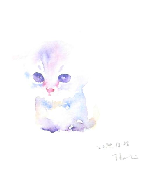 小さな水彩画~ちょっとかわいい動物たちのポストカード~(2枚セット) by h-hatori アート・写真 絵画  ハンドメイドマーケット minne(ミンネ) (2599)