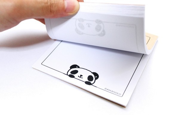 黒デス株式会社営業部黒目パンダがのぞいてます メモ帳 [基本送料は此方が負担します!]|メモ帳・ノート|ハンドメイド通販・販売のCreema (2622)