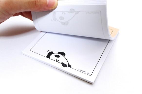 黒デス株式会社営業部黒目パンダがのぞいてます メモ帳 [基本送料は此方が負担します!]|メモ帳・ノート|ハンドメイド通販・販売のCreema (2623)