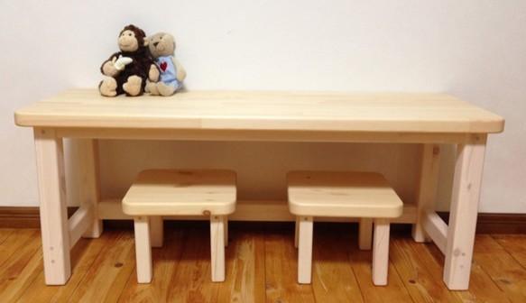 キッズテーブル+イス2台  set  ※受注生産 3カラー展開|テーブル・デスク|ハンドメイド通販・販売のCreema (2972)