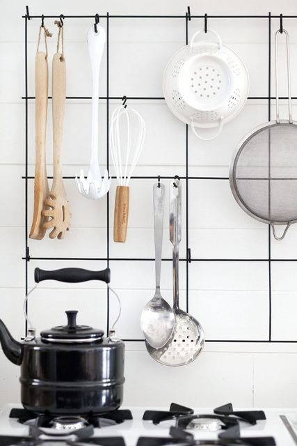 DIY Wire Utensil Rack (A Beautiful Mess) | Hardware Stores, Wire and Hardware (3238)