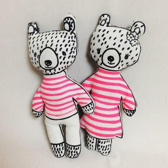 くまちゃんペア nounours ヌヌース(くまちゃん!)蛍光ピンク|人形・ぬいぐるみ|ハンドメイド通販・販売のCreema (3499)