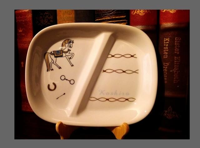 おうまさん♪ランチプレート♪お名前入り♪ by りんごまめ * 陶器・ガラス・食器 食器 | ハンドメイドマーケット minne(ミンネ) (3540)