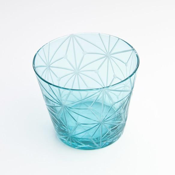 江戸切子(花切子)グラス 千代紙 空色|グラス|ハンドメイド通販・販売のCreema (3583)