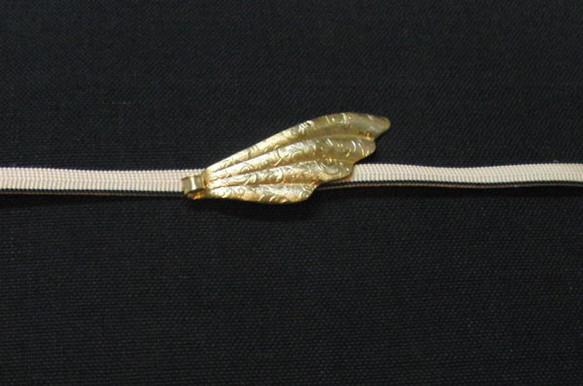 真鍮 羽型帯どめ 着物や浴衣の帯飾りに|帯留・かんざし・和小物|ハンドメイド通販・販売のCreema (4349)