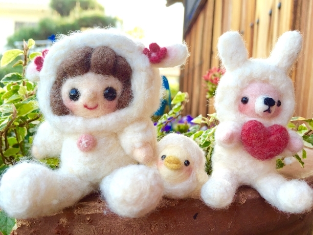 *羊毛フェルト*羊さんごっこ♡ | ホーム&リビング > おもちゃ&人形 > 羊毛フェルト | ハンドメイド・手作りマーケット tetote(テトテ) | 作品ID:ns2104753261 (4395)