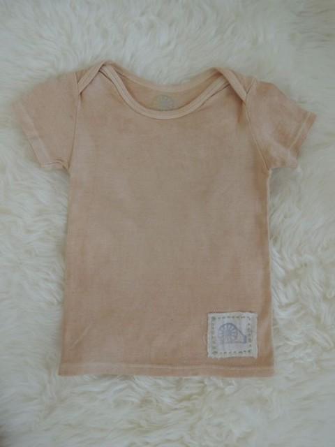べんがら染めオーガニックコットンTシャツ 夕焼け色|ベビー服|ハンドメイド通販・販売のCreema (4415)