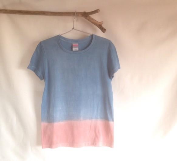 藍染 + 泥染 -T  アカツキ|Tシャツ・ポロシャツ|ハンドメイド通販・販売のCreema (4555)