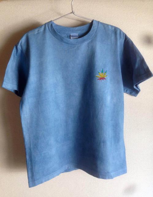 大麻柄-T 藍染 ラスタ |Tシャツ・ポロシャツ|ハンドメイド通販・販売のCreema (4559)
