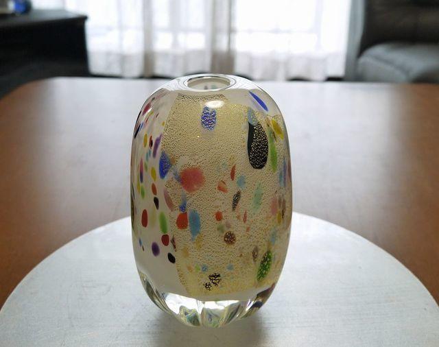 月夜の森(フラワーベース) by my-heart 陶器・ガラス・食器 ガラス工芸 | ハンドメイドマーケット minne(ミンネ) (4818)