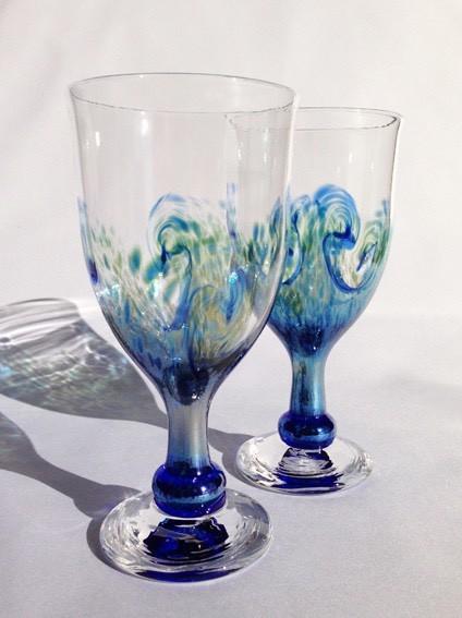 波の輝きゴブレット|グラス|ハンドメイド通販・販売のCreema (4917)