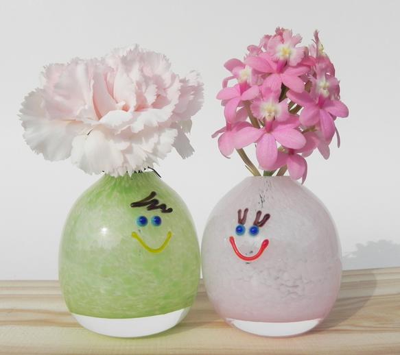 Boy Smileちゃん/一輪挿し(キミドリ)|一輪挿し・花瓶・花器|ハンドメイド通販・販売のCreema (4919)