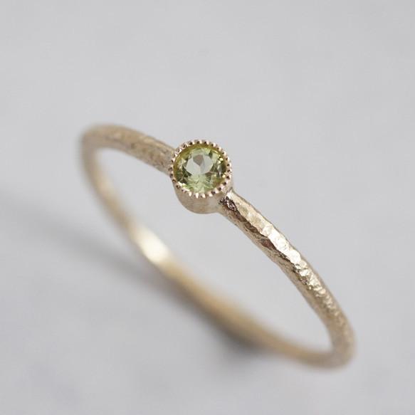 Peridot birthstone ring {R050K10PD}|指輪|ハンドメイド通販・販売のCreema (4929)