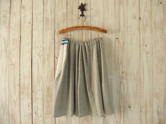 ゆらゆらフレアスカート/青&白(短)|スカート・パンツ|ハンドメイド通販・販売のCreema (5758)