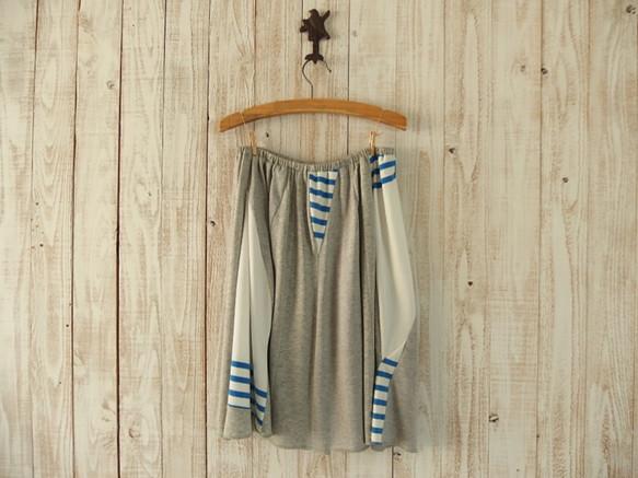 ゆらゆらフレアスカート/青&白(短)|スカート・パンツ|ハンドメイド通販・販売のCreema (5759)