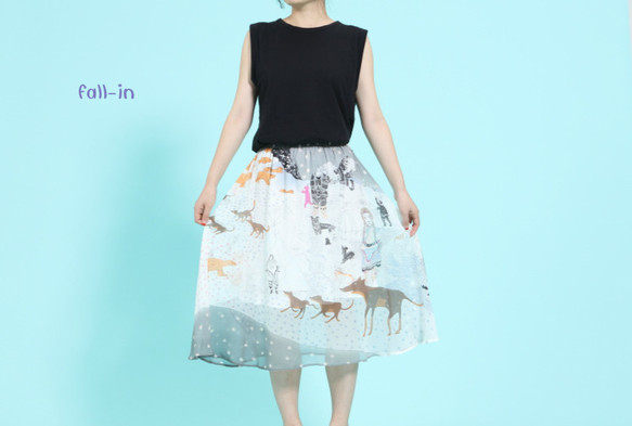(再販4)大推薦!!ノルディックの童話 100%シルクスカート|スカート・パンツ|ハンドメイド通販・販売のCreema (5762)
