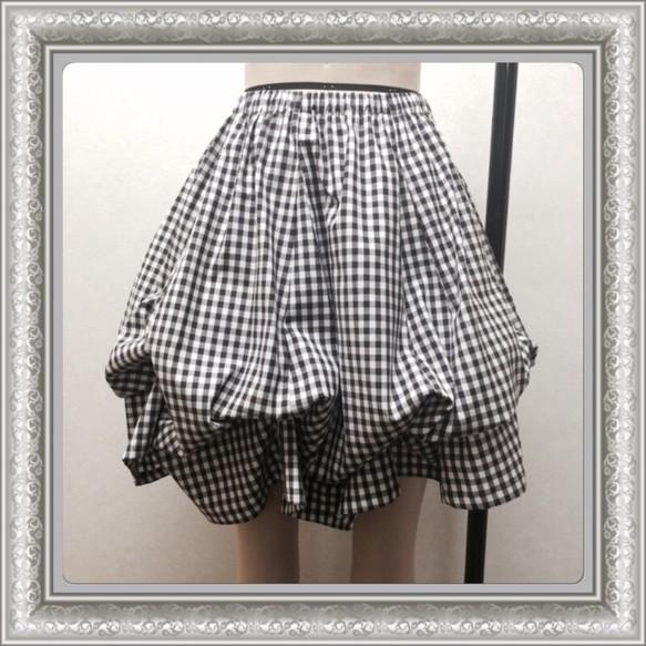 ふんわりエアリーなスカート*ギンガムチェック*2way|スカート・パンツ|ハンドメイド通販・販売のCreema (5768)