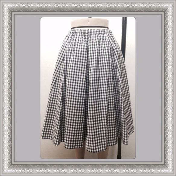 ふんわりエアリーなスカート*ギンガムチェック*2way|スカート・パンツ|ハンドメイド通販・販売のCreema (5769)