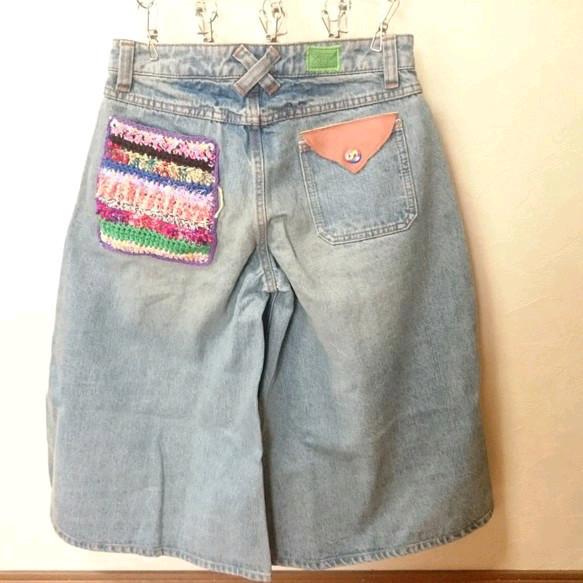 ごちゃ色編みポケットパンツ|スカート・パンツ|ハンドメイド通販・販売のCreema (5772)